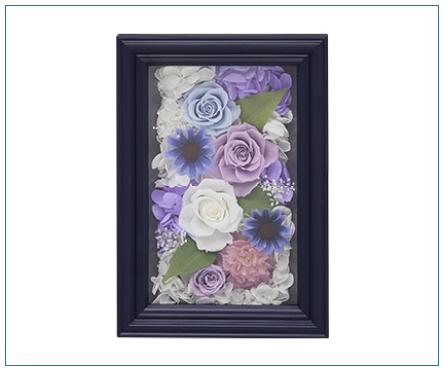 プリザーブドフラワー「想藍」(そうあい)※一部造花等使用 電報台紙料金:8,000円(税抜)
