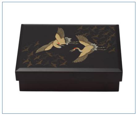 【フォーマル】うるし「鶴の舞」(小箱)(つるのまい こばこ) 電報台紙料金:5,000円(税抜)